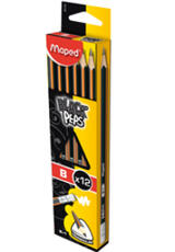 Молив Maped Black Peps B 12бр.в опаковка